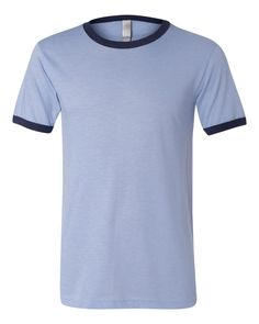 Bella + Canvas 3055 - Heather Ringer Jersey T-Shirt - Wholesale and Bulk Pricing Available