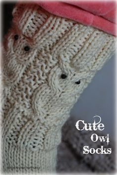 Craft Projects, Projects To Try, Owl Patterns, Boot Cuffs, Marimekko, Knitting Socks, Knit Socks, Handicraft, Fingerless Gloves