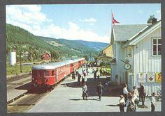 Fagernes stasjon, Valdres 1960-tall. Oppland fylke. Tog.  Foto: Normann