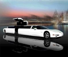 Corvette Ultra Stretch Limo..will take me to the airport..if I win the lottery..
