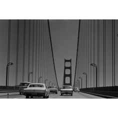 USA California San Francisco traffic on Golden Gate Bridge Canvas Art - (18 x 24)