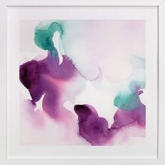 Watercolor Abstract Flora Series : Solice by V E R Y M A R T A at minted.com
