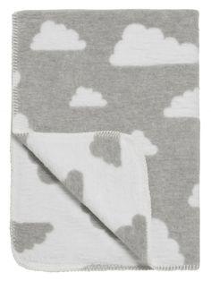 Deken Wolken Grijs- Wieg- of ledikantformaat | Meyco | Gras onder je voeten