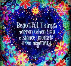 Beautiful things happen to you when you distance yourself from negative thinking. Positive Affirmations Quotes, Affirmation Quotes, Positive Quotes, Happy Quotes, Great Quotes, Inspirational Quotes, Zen Quotes, Motivational, Happy Thoughts