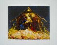 11x14 Giclee Nativity Print DONE from Original Painting by Chantel Lynn Barber | eBay