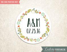 30 bloemen bruiloft Label 2 van CustomStickerAndTag op Etsy