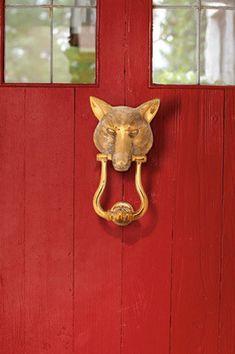 Brass Fox Door Knocker $159 Horse Country Store