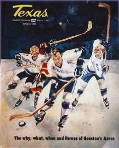 Gordie Howe with his sons Mark and Marty on the April 26, 1974 cover of Texas Houston Chronicle Magazine