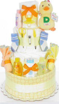 Duck Rattle Diaper Cake - Baby Shower Gifts