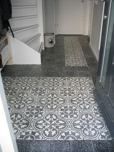 Cement tiles Hall - Negra 12 Granito - Granito 01 - Project van Designtegels.nl
