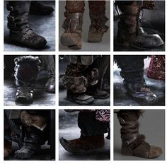 The dwarf's boots.  Now name the boots belonging to the corresponding dwarf, lol.