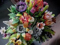 Mario Rivoli beaded flowers