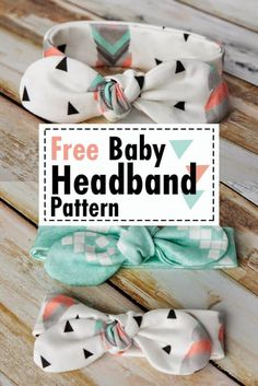 Easy DIY baby headband pattern free sewing - Knot Bow Headband Pattern and Tutorial - Coral + Co. - ✂ Nähen ✂ Baby✂ - Make a Free Baby Headband Pattern! Sew this DIY Knot Bow Headband Pattern for baby. Easy Knot Bow S - Baby Sewing Projects, Sewing Projects For Beginners, Sewing Hacks, Sewing Crafts, Sewing Tips, Baby Sewing Tutorials, Sewing Ideas, Diy Crafts, Crochet Tutorials