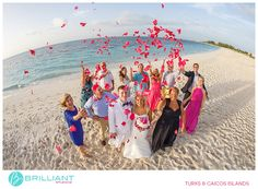 A destination wedding with Christy and Gordon in Turks and Caicos with Brilliant Studios