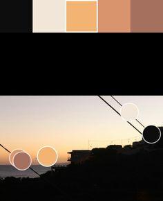 Naranja y naranja oscuro(3): F3B375/D9946C Puntos de color y paleta