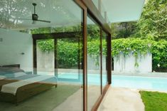 Home Design and Interior Design Gallery of Tiny Bedroom With Long Swimming Pool Costa Rica, Small Inground Pool, Ikea, Luxury Bedroom Design, Bedroom Designs, Interior Architecture, Interior Design, Marquise, Tropical Houses