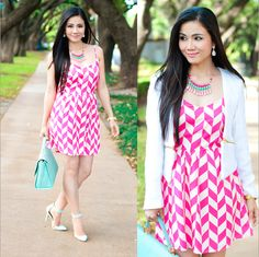 Chevron Dress With a Twist http://www.lynnegabriel.com/?p=18134