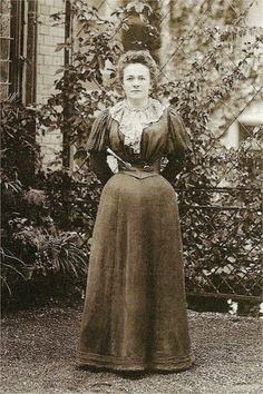 Clara Zetkin in 1897 - she organized the first International Woman's Day.