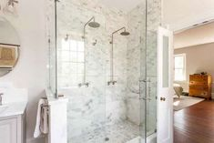 Thrilling Small shower remodel tile tips,Small shower remodel with bench tricks and Fiberglass shower remodeling stalls. Tile Walk In Shower, Tub To Shower Remodel, Bathroom Tub Shower, Walk In Shower Designs, Shower Doors, Bath Remodel, Master Shower, Bath Tubs, Bathroom Designs
