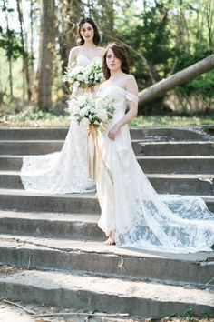 Bohemian brides in lace | Cadence Kennedy Photography on /blovedblog/