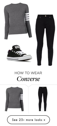 """Untitled #266"" by ride-or-die-babygirl on Polyvore featuring Thom Browne, Ted Baker and Converse"