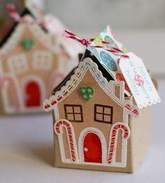 Gingerbread Treat Boxes by Betsy Veldman for Papertrey Ink (September 2012)