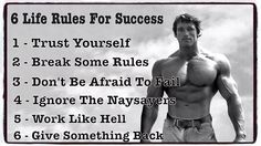 Arnie's 6 Life Rules For Success