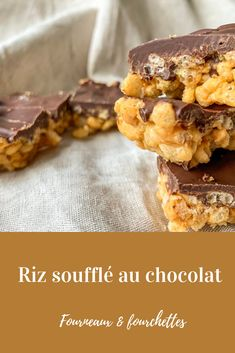 Chocolate puffed rice Source by FourneauxEtFourchettes Puffed Rice, Chocolate Brownies, Brownie Recipes, Rice Krispies, Granola, Gluten Free Recipes, Biscuits, Food And Drink, Treats