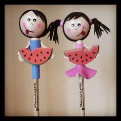 #Fofulápices #personalizados de #Suli y #Goli, personajes de @Sarah Thomas-Suli