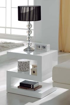 Hana-Contemporary Side Tables For Living Room Uk Living Room Modern, Living Room Designs, Living Room Decor, Sofa Side Table, White Side Tables, Contemporary Side Tables, Modern Side Table, Centre Table Design, Painted Coffee Tables