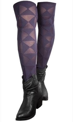 3D Triangle Over The Knee Socks