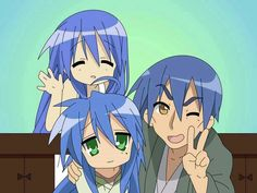 Lucky Star: Konata's family just started watching this anime! I love it! It's kinda dry so it takes some getting used to but it's epic none the less