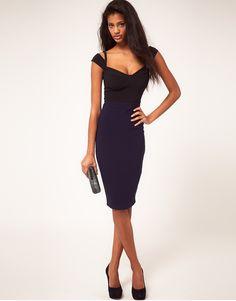 ASOS Sexy Pencil Dress With sweetheart neckline  £38