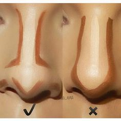 Contour & highlight varies from face to face. Use contour to bring things in and highlight to take things out. It's not the same for all faces! This picture is a good example #nosecontour
