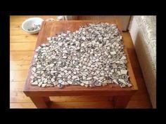 Mesa com azulejos partidos
