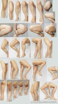 무릎 그리는 방법 | Anatomy ...@小灰兔一O采集到人体素材(1080图)_花瓣插画/漫画
