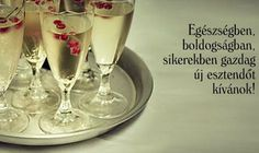 New Years Eve, Evo, Happy New Year, Champagne, Happy Birthday, Greeting Cards, Tableware, Glass, Christmas