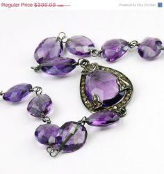 Valentine Day Sale Amethyst and Diamond Pave Bracelet. Amethyst  Bracelet. Purple Gemstone Bracelet
