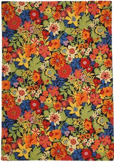 Blooming in July Rug. DesignNashville.com  Color Gallery Rugs