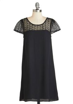 Lovesome Lace Dress. Slipping into this swingy LBD, you know you found something special! #gold #prom #modcloth