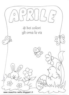 maestra Nella: i mesi dell'anno Cool Coloring Pages, Coloring Books, Notebook Art, Creta, Borders And Frames, Play To Learn, Planner, Cover Pages, Drawing For Kids