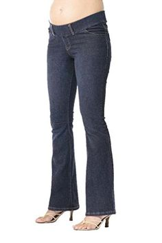 Japanese Weekend OK Bootflare Maternity Jeans  Blue  Medium * You can find more details by visiting the image link. (This is an affiliate link and I receive a commission for the sales)