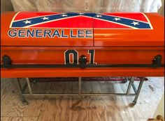 Casket Coffin General Lee Dukes Of Hazzard Funeral Hearse Southern Pride, Southern Style, General Lee Car, Dukes Of Hazard, Harley Quinn Halloween, Harley Davidson Parts, 1969 Dodge Charger, Car Wallpapers, Casket