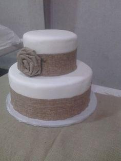 FAKE BURLAP CAKE by BayouCakesandGifts on Etsy
