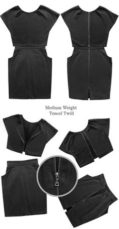 Modular black dress, skirt, and top in one, from The Uniform Project.