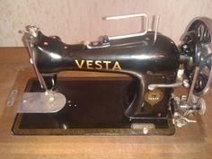 Antike Nähmaschine Marke VESTA Baujahr 1914 in Adelberg (Vesta sewing machine)
