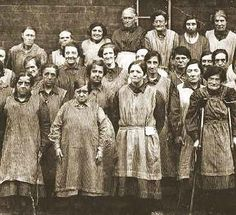 Previous pinner wrote : Workhouse women, Leeds, England.   c 1900