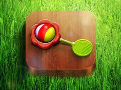 iOS rattle icon by Alex Bender, via Behance