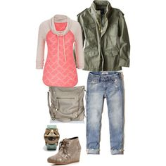 A fashion look from January 2015 featuring American Eagle Outfitters jackets, Hollister Co. jeans and TOMS ankle booties. Browse and shop related looks.