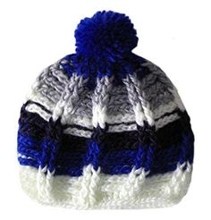 da2efa6c5c8 BIBITIME Handmade Knitted Stripes Beanie Pom Hat For Women Winter Warm Knit  Cap Size Head